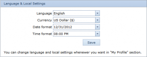 Language Local Settings