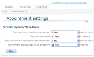 Appointment Scheduler Customization